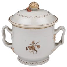 Early 19th C. Chinese Export Sucrier or Sugar Bowl With Cover