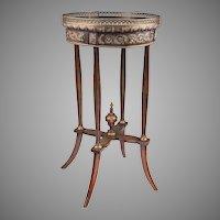Early 20th C. Louis XVI Style Ormolu Gueridon Or Side Table