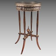 Early 20th C. Louis XVI Style Ormolu Gueridon Or Side Table