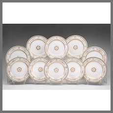 Set of Ten Wedgwood Dinner Plates, Circa 1900