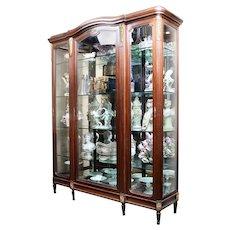 Early 20th C. French Louis XVI Kingwood Bibliothèque Vitrine Cabinet Mounted In Ormolu