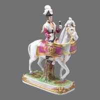German Kister, Scheibe Alsbach Mounted Porcelain Soldier, Garde Imperiale