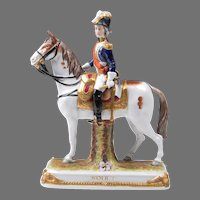 German Kister, Scheibe Alsbach Mounted Porcelain Soldier, Soult