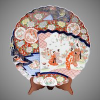 Late Meiji Period Japanese Enameled Charger
