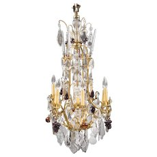 19th Louis XV Style Bronze And Baccarat Crystal Chandelier