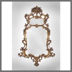 19th C. Giltwood Carved Rococo Pier Mirror