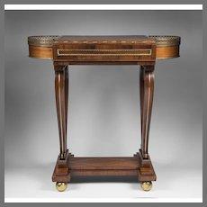 Regency Mahogany Rosewood Work and Gaming Table
