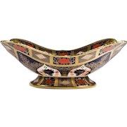 English Royal Crown Derby Porcelain Basket, Old Imari Pattern, 1128