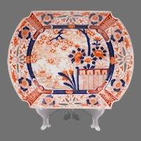 19th C. Japanese Imari Platter With Pierced Borders