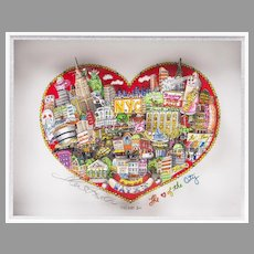 Original Pop Art Serigraph By Charles Fazzino, My Love Of The City
