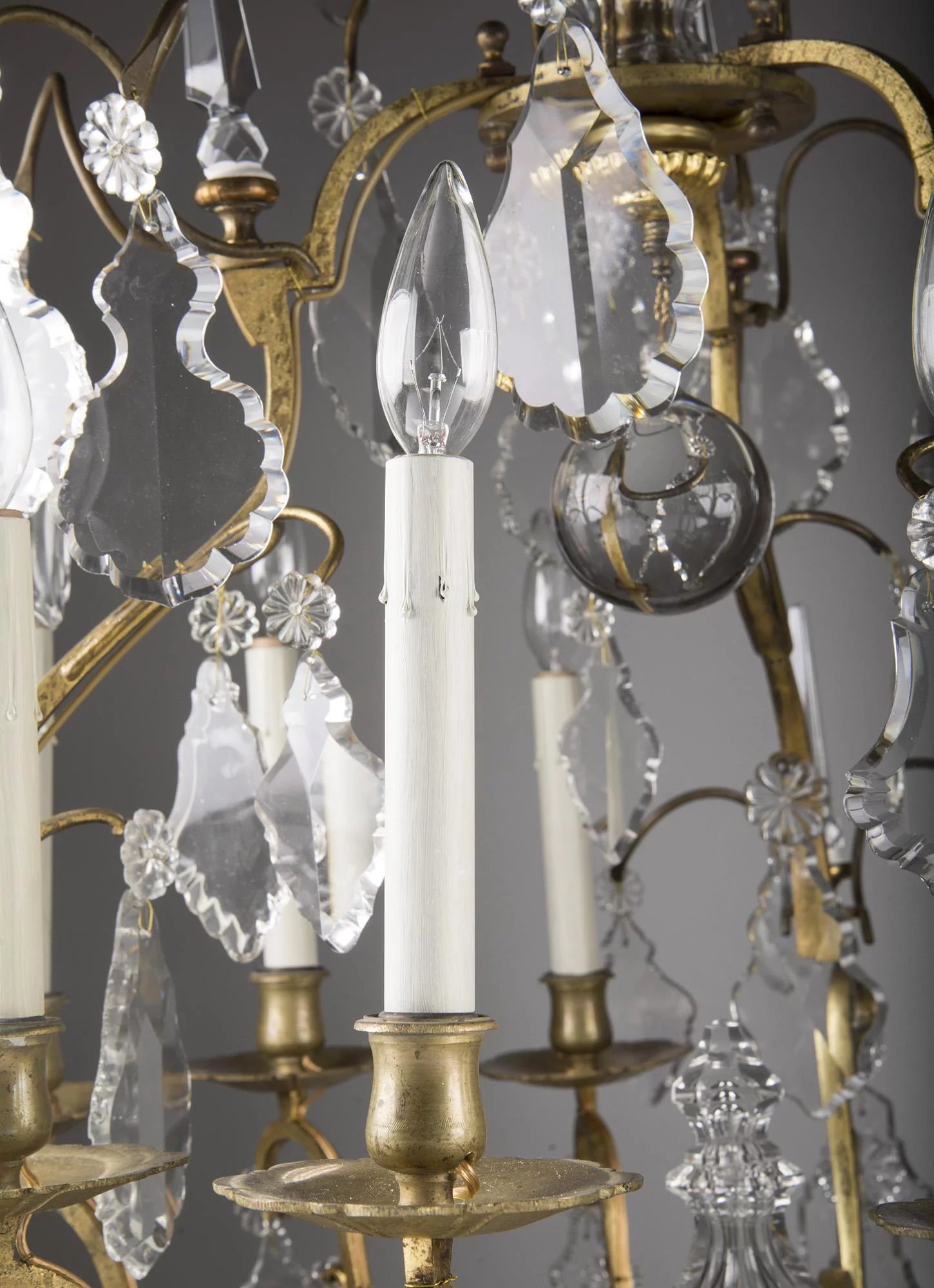19th C French Baccarat Crystal Louis Xv Style Chandelier
