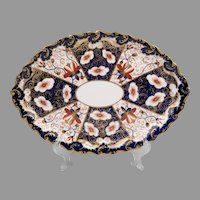 Royal Crown Derby Imari Lozenge Shaped Tray, 1896 Hors d'Oeuvres