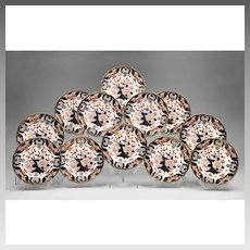 Set of 12  Royal Crown Derby King's Pattern Luncheon Plates