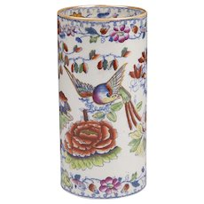 Mason's Birds Of Paradise Cylindrical Vase