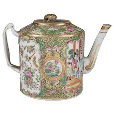 Mid 19th C. Rose Medallion Chinese Export Teapot