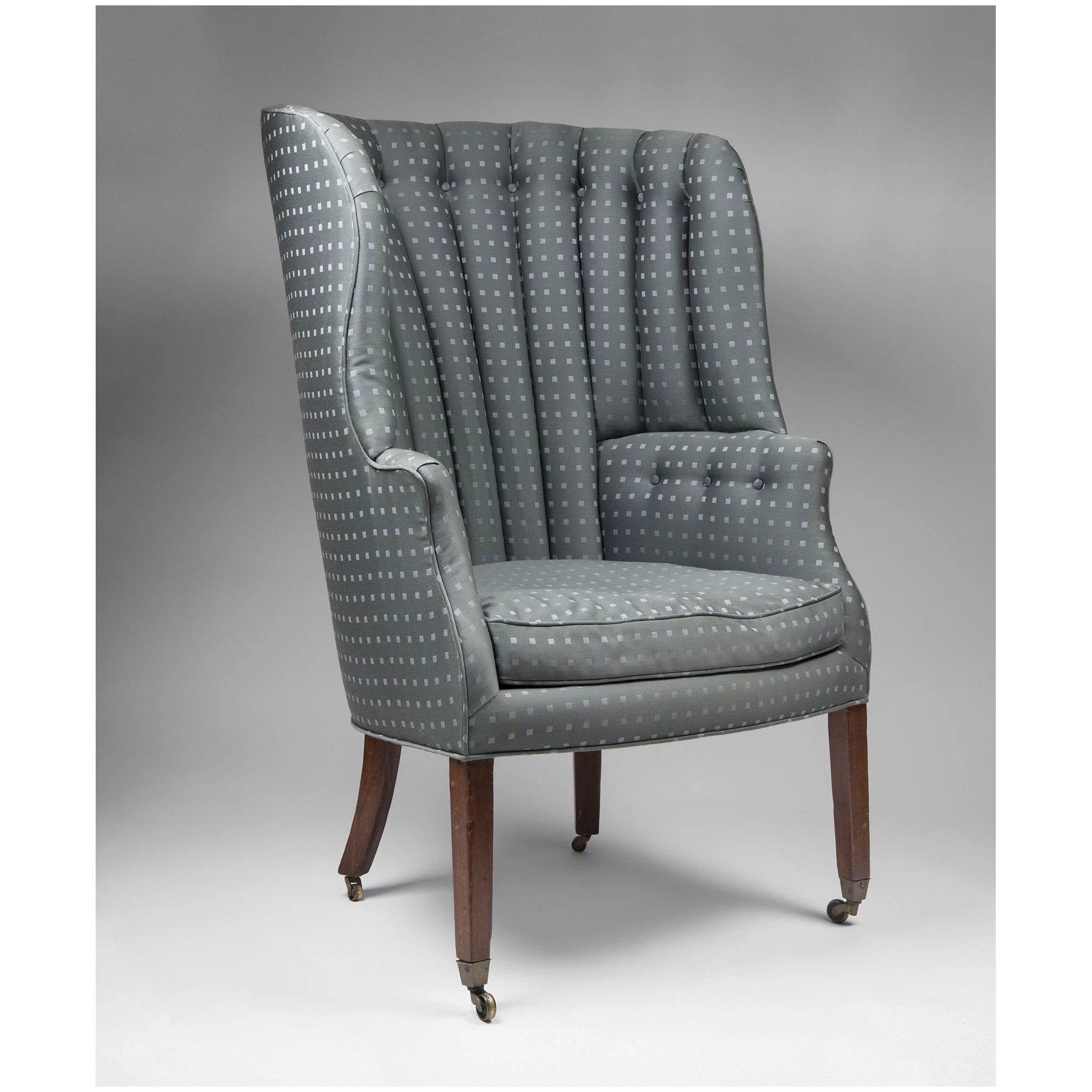 Picture of: 19th C English Georgian Barrel Back Library Wing Chair Pia S Antique Gallery Ruby Lane