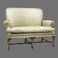 19th C. Queen Anne Style Highback Hall Settee