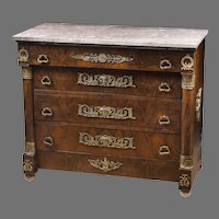 Napoleon III French Rosewood Empire Commode