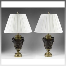 Pair of Bronze 19th century French Lamps