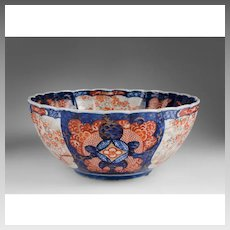 Meiji Period Japanese Imari Scalloped Center Bowl