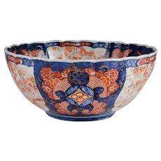 Meiji Period Japanese Imari Scalloped Center Bowl