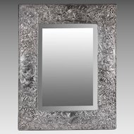 Jack Rabinovich Sterling Silver Vanity Mirror On Easel Frame