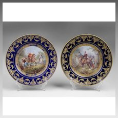 Pair of Early 19th C. Sevres Style Cabinet Plates
