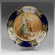 Chateau des Tuilieries Sevres Cobalt Tazza or Compote