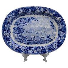 """16"""" Blue & White Wedgwood Etruria Platter"""