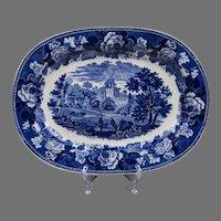 """14"""" Blue & White Wedgwood Etruria Platter"""