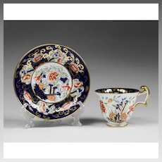 Early 20th C. Coalport Cup and Saucer, Imari Style