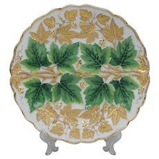 Meissen Plate With Raised Grape Leaf Design