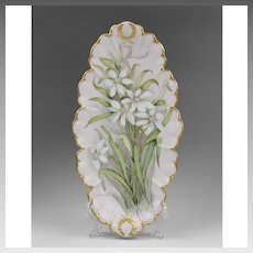 Haviland & Co. Limoges Tray Hand Painted With Flowers