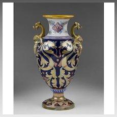 Gualdo Tadino Italian Lustre Majolica Vase, 1900's