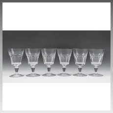 Set of 6 Bretagna Baccarat Water Goblets