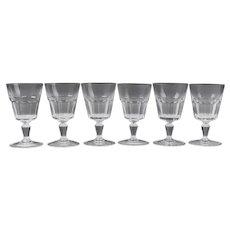 Set of 6 Bretagna Baccarat Water Goblets