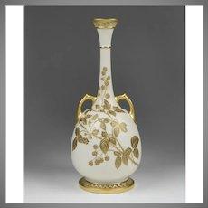 Royal Worcester Blush Ivory Thistle Vase, Form 858