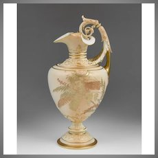 Circa 1897 Royal Worcester Ewer, Form 1309
