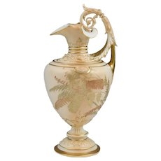 Circa 1897 Royal Worcester Ewer, Form 1309