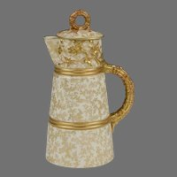 Royal Worcester 1887 Chocolate Pot With Lid, Form 1407