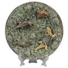 19th C. Mafra, Caldas Palissy Ware Plate