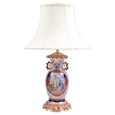 Paris Porcelain Lamp In The Chinese Style, Bronze Mounted