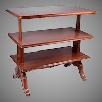English Victorian Metamorphic Dumb Waiter Table