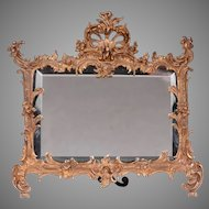 Petite 19th C. French Easel Mirror In Bronze