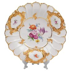 Early 20th C. Meissen Cabinet Charger or Plate