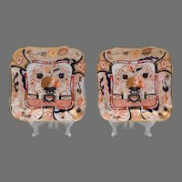 Pair of Early 19th C. Coalport Square Dessert Dishes