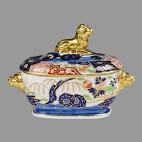 Early 19th Century Coalport Rock and Tree Pattern Sauce Tureen