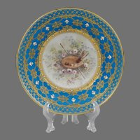 1754 Sevres Soft Paste Saucer Painted With Scene