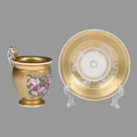 First Empire Paris Porcelain Cup & Saucer