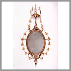 19th C. Adams Giltwood and Draped Mirror